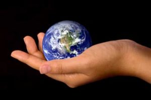eco-living - world in hand